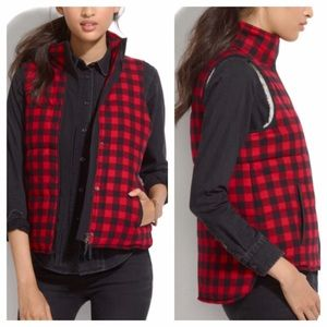 Madewell Buffalo Plaid Fireside Vest